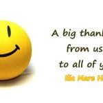 Ένα μεγάλο ευχαριστώ από εμάς!
